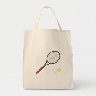 Tennis Racket And Ball Tote Bag