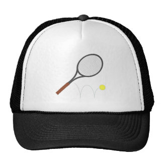 Tennis Racket And Ball Trucker Hat