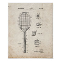 Tennis Racket And The Like Patent - Old Look Poster