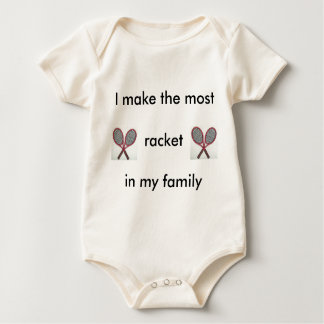 Tennis Racket Baby Baby Bodysuit