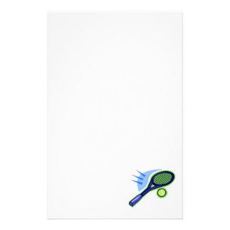 Tennis Racket & Ball Stationery Design