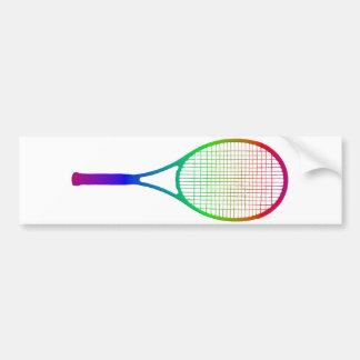 Tennis Racket Bumper Sticker