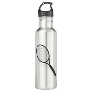 Tennis Racket Graphic Water Bottle