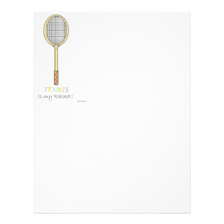 tennis racket letterhead