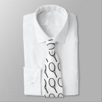 Tennis Racket Patterned Custom Tie