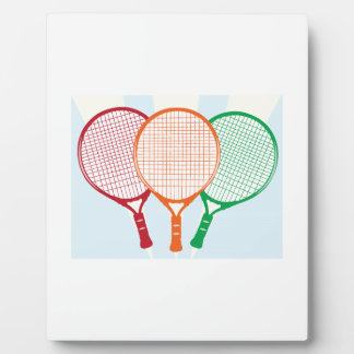 Tennis Racket Photo Plaques