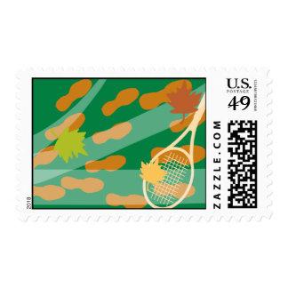 Tennis racket stamps