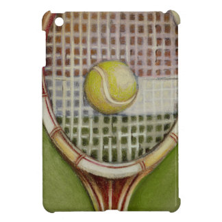 Tennis Racket with Ball Laying on Court iPad Mini Cover