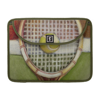 Tennis Racket with Ball Laying on Court MacBook Pro Sleeve