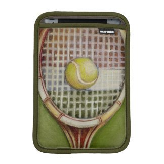 Tennis Racket with Ball Laying on Court Sleeve For iPad Mini