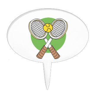 Tennis Rackets and Ball Cake Topper