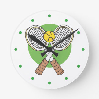 Tennis Rackets and Ball Round Clock