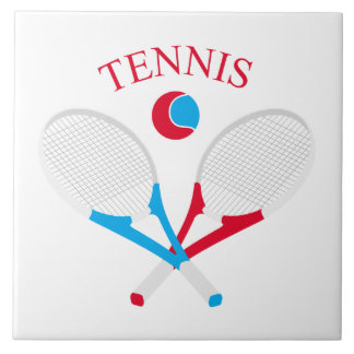 Tennis rackets and tennis ball ceramic tile
