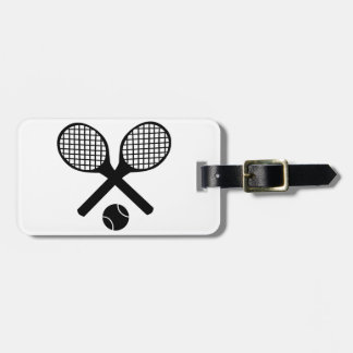 Tennis Rackets and Tennis Ball Luggage Tag