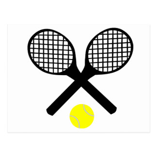 Tennis Rackets and Tennis Ball Postcard