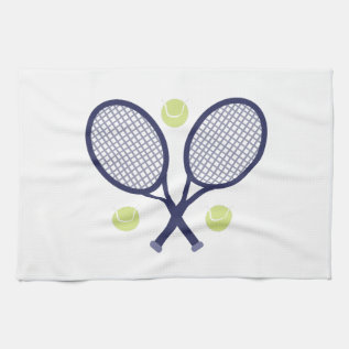 Tennis Rackets Hand Towel at Zazzle