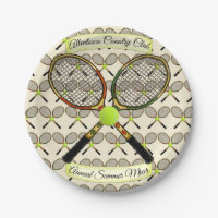 Tennis Rackets Paper Plates