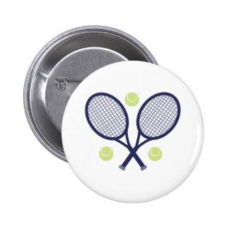 Tennis Rackets Pinback Button