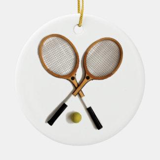 tennis rackets , sports , ballgames, ceramic ornament