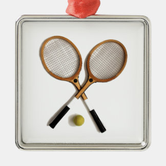 tennis rackets , sports , ballgames, metal ornament