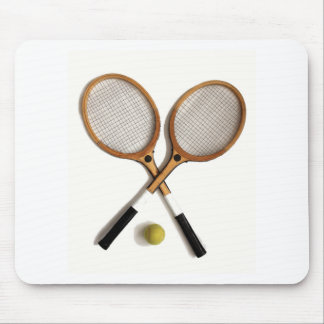 tennis rackets , sports , ballgames, mouse pad