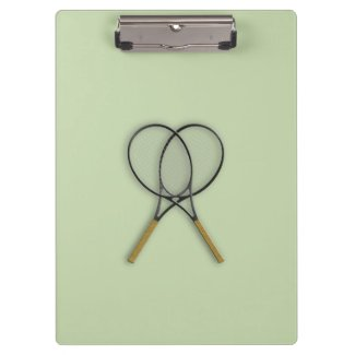 Tennis Rackets Sports Design Clipboard
