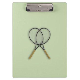 Tennis Rackets Sports Design Clipboard