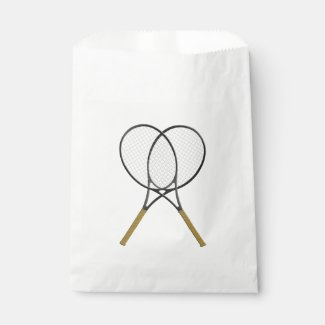 Tennis Rackets Sports Design Favor Bags