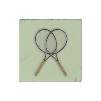 Tennis Rackets Sports Design Stone Magnet