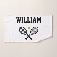 Tennis Rackets Sports Hand Towel