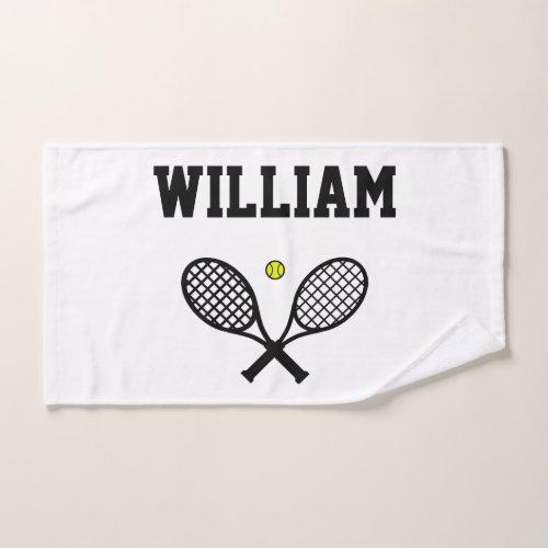 Tennis Rackets Sports Hand Towel