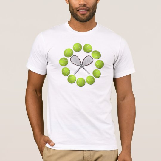 TENNIS RACQUET AND BALLS T-Shirt