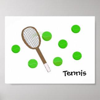 Tennis Racquet and Tennis Balls Poster