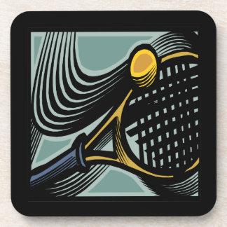 Tennis Racquet Beverage Coaster
