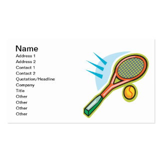 Tennis Racquet Double-Sided Standard Business Cards (Pack Of 100)