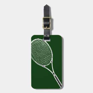 tennis racquet luggage tags