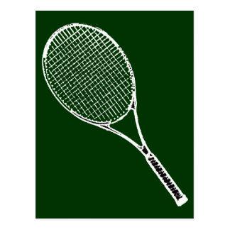 tennis racquet postcard