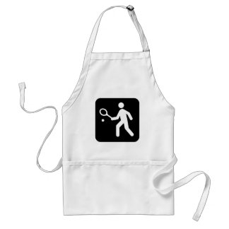 Tennis Racquetball Pictogram Adult Apron