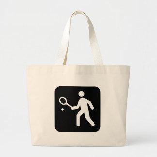 Tennis Racquetball Pictogram Canvas Bag