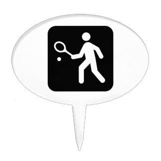 Tennis Racquetball Pictogram Cake Topper