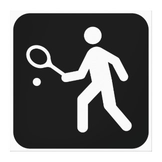Tennis Racquetball Pictogram Gallery Wrapped Canvas