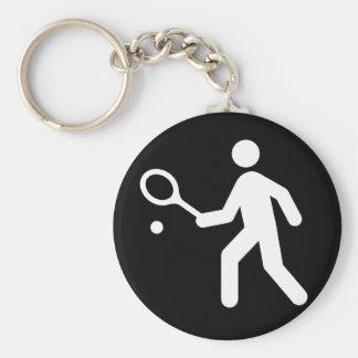 Tennis Racquetball Pictogram Key Chains