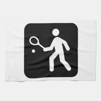 Tennis Racquetball Pictogram Kitchen Towel