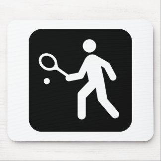 Tennis Racquetball Pictogram Mousepad