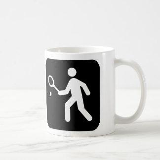 Tennis Racquetball Pictogram Coffee Mug