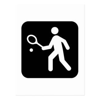 Tennis Racquetball Pictogram Postcard