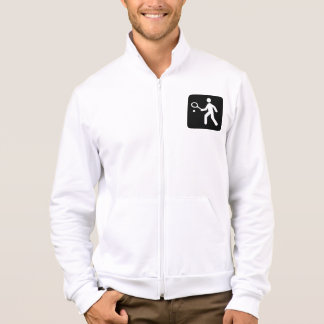 Tennis Racquetball Pictogram Printed Jacket