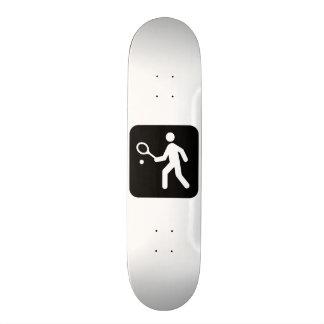 Tennis Racquetball Pictogram Skateboard Deck