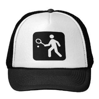 Tennis Racquetball Pictogram Trucker Hat