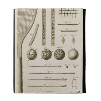 Tennis Racquets and Billiard Cues, from the 'Encyc iPad Cases